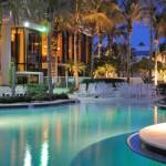 resort pool commercial landscape lighting