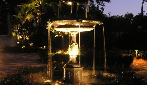 Outdoor fountain lighting aloadofball Gallery